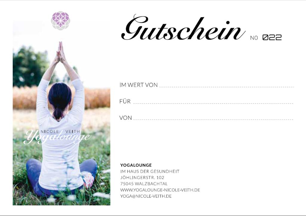 Gutschein Yogalounge