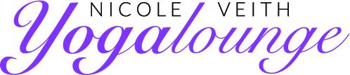 Yogalounge Nicole Veith Walzbachtal | Logo schwarz-violett